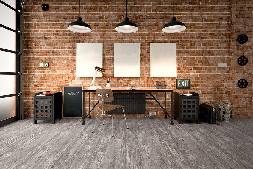 Arbeitszimmer mit Designboden